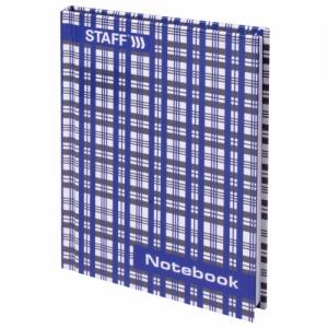 """Блокнот (110х147 мм) А6, 80 л., твердый переплет, ламинированная обложка, клетка, """"Шотландка"""""""