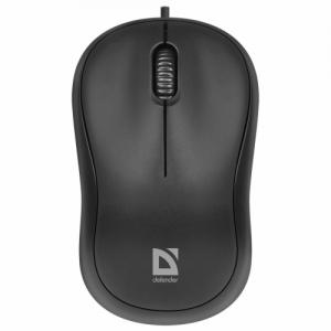 Мышь проводная Defender Patch MS-759, USB, 2 кнопки + 1 колесо-кнопка, оптическая, черная