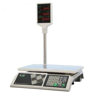 Весы торговые MERCURY M-ER 326ACP-15.2 LED (0,04-15 кг), дискретность 5 г, платформа 325x230 мм, со стойкой