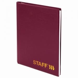 Телефонная книжка А5 (160х204 мм), ПВХ, на евроспирали, 80 л., вырубной алфавит, бордовая