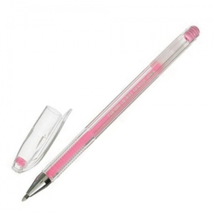 """Ручка гелевая CROWN """"Hi-Jell Pastel"""", розовая пастель, узел 0,8 мм, линия письма 0,5 мм"""