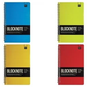 """Блокнот А5 (135х210 мм), 60 л., гребень, ламинированный картон, клетка, Альт, """"ACTIVE BOOK"""", (4 вида)."""