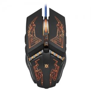 Мышь проводная игровая Defender Halo Z GM-430L, USB, 6 кнопок+1 колесо-кнопка, оптическая, черная