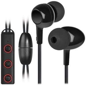 Наушники с микрофоном (гарнитура) Defender FREEMOTION B675, Bluetooth, беспроводные, черные с красным