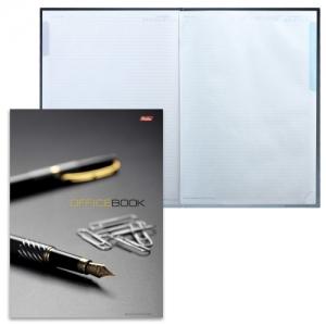 """Блокнот большой формат (205х290 мм) А4, 120 л., твердый переплет, лам. обложка, блок 5 цв., клетка, """"Office Book"""""""