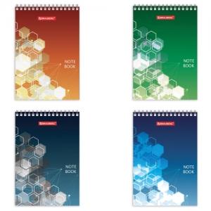"Блокнот (97х145 мм) А6, 60 л., гребень, картон, клетка, ""Спектр"""