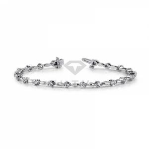 Дизайнерский браслет из белого золота с бриллиантами