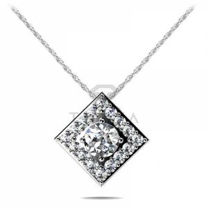 Подвеска с бриллиантами из белого золота