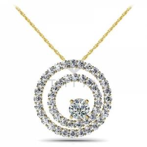 Подвеска с бриллиантами из желтого золота
