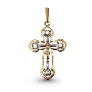 Мужской золотой крестик с бриллиантом