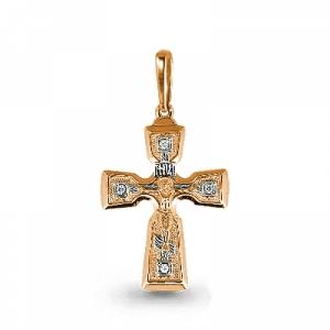 Золотой крестик с бриллиантом