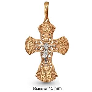 Золотой крестик без камней