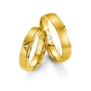 Золотые парные обручальные кольца (ширина 4 мм.) (цена за пару)