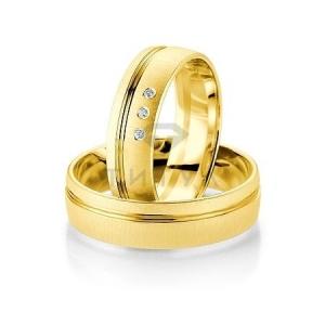 Золотые парные обручальные кольца (ширина 6 мм.) (цена за пару)