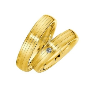 Золотые парные обручальные кольца (ширина 5 мм.) (цена за пару)