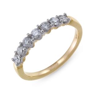 Кольцо из желтого золота c бриллиантами
