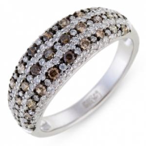 Кольцо из белого золота c бриллиантами