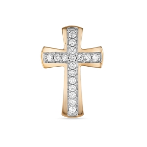 Золотое крестик c бриллиантами