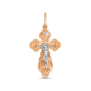 Золотое крестик c бриллиантом