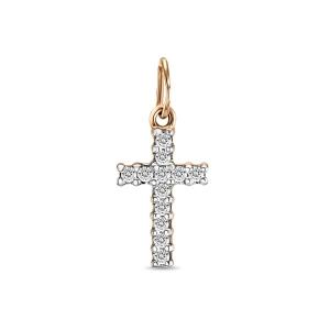 Золотой крестик c бриллиантами