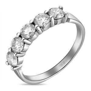 Золотое обручальное кольцо c бриллиантами