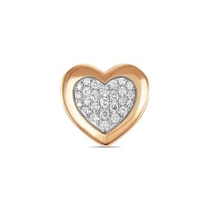 Золотая подвеска в форме сердца c бриллиантами