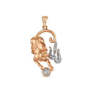 Золотая подвеска «Пантера» c бриллиантами
