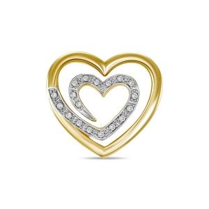 Подвеска из желтого золота c бриллиантами Романтика