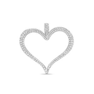 Подвеска из белого золота c бриллиантами Романтика