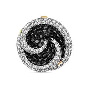 Подвеска из белого золота c черными бриллиантами