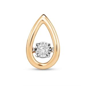 Золотая подвеска c бриллиантом Энигма