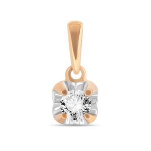 Золотая подвеска c бриллиантом