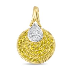 Подвеска из желтого золота c бриллиантами