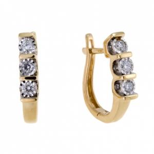 Золотые серьги c бриллиантами Энигма