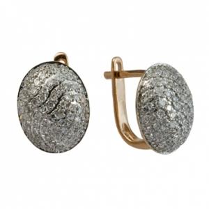Золотые серьги c бриллиантами