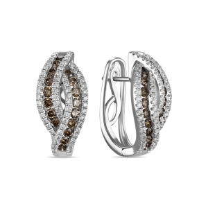 Серьги из белого золота c бриллиантами