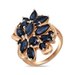 Золотое кольцо c сапфирами