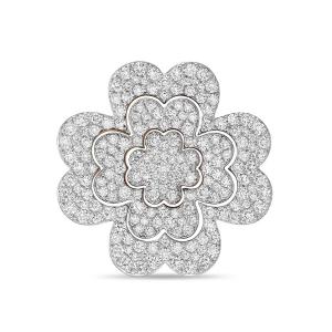 Золотая подвеска Цветок c фианитами