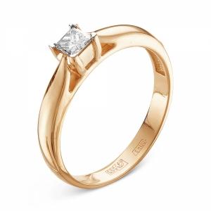 Золотое помолвочное кольцо c бриллиантом