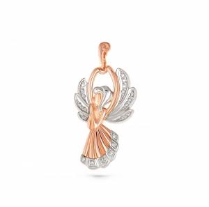 Золотая подвеска Ангел c бриллиантом
