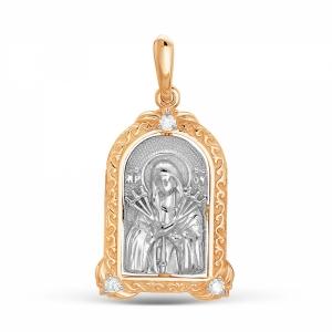 Золотая иконка c бриллиантом