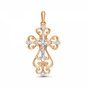 Золотой крестик c бриллиантом