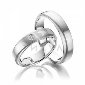 Платиновые парные обручальные кольца (цена за пару)