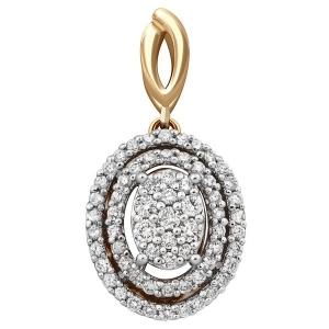 Подвеска-кулон из комбинированного золота с бриллиантами