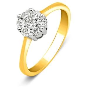 Помолвочное кольцо из жёлтого золота с бриллиантами