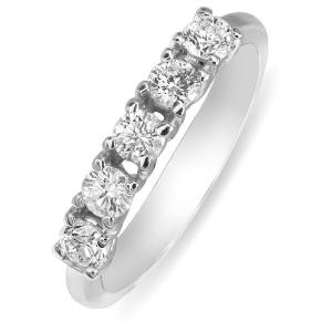 Помолвочное кольцо с бриллиантом из белого золота