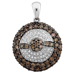 Подвеска-кулон из белого золота с бриллиантами