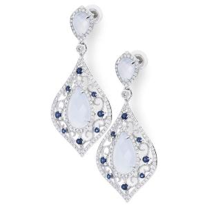 Эксклюзивные серьги с бриллиантами «Снежная Королева»