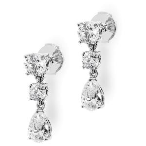 Серьги с бриллиантами 1 карат